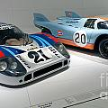 1972 Porsche 917 Lh Coupe And 1970 Porsche 917 Kh Coupe by Paul Fearn