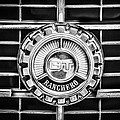 1973 Ford Ranchero Grille Emblem -0769bw by Jill Reger