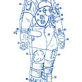 1973 Nasa Astronaut Space Suit Patent Art 2 by Nishanth Gopinathan