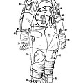 1973 Nasa Astronaut Space Suit Patent Art 3 by Nishanth Gopinathan