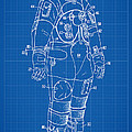 1973 Nasa Astronaut Space Suit Patent Art by Nishanth Gopinathan