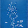 1973 Space Suit Patent Inventors Artwork - Blueprint by Nikki Marie Smith