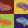 1975 Corvette Stingray Sportscar Pop Art by Keith Webber Jr