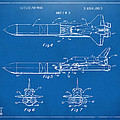 1975 Space Vehicle Patent - Blueprint by Nikki Marie Smith