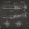 1975 Space Vehicle Patent - Gray by Nikki Marie Smith
