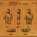 1979 Lego Minifigure Toy Patent Art 4 by Nishanth Gopinathan