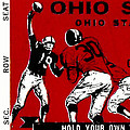 1979 Ohio State Vs Wisconsin Football Ticket by David Patterson