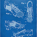 1980 Soccer Shoes Patent Artwork - Blueprint by Nikki Marie Smith
