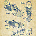 1980 Soccer Shoes Patent Artwork - Vintage by Nikki Marie Smith