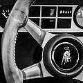 1982 Lamborghini Countach 5000s Steering Wheel Emblem -1549bw by Jill Reger