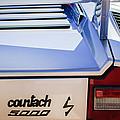 1982 Lamborghini Countach 5000s Taillight Emblem -0453c by Jill Reger