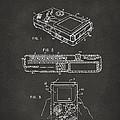 1993 Nintendo Game Boy Patent Artwork - Gray by Nikki Marie Smith