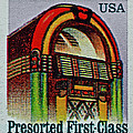 1995 Jukebox Stamp by Bill Owen