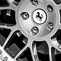 1997 Ferrari F 355 Spider Wheel Emblem -125bw by Jill Reger