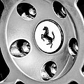 1997 Ferrari F 355 Spider Wheel Emblem -201bw by Jill Reger