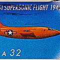 1997 First Supersonic Flight Stamp by Bill Owen