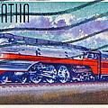 1999 Hiawatha Train Stamp by Bill Owen
