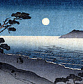 19th C. Moonlit Japanese Beach by Historic Image