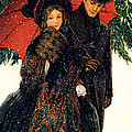 19th C. Young Couple In Winter by Historic Image