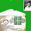 1st Day Cover 1950 Manila Philippine Islands David Lee Guss 1949 Passport Photo  Collage 1950-2012 by David Lee Guss