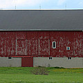 Large Red Barn by R A W M