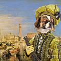 Tibetan Spaniel Art Canvas Print by Sandra Sij