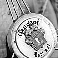 1937 Peugeot 402 Darl'mat Legere Special Sport Roadster Recreation Steering Wheel Emblem by Jill Reger