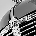 1938 Chevrolet Coupe Hood Ornament -0216bw by Jill Reger