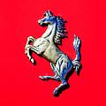 1954 Ferrari 500 Mondial Spider Series I Emblem by Jill Reger