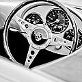 1955 Porsche Spyder Replica Steering Wheel Emblem by Jill Reger