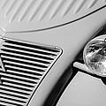 1956 Citroen 2cv Grille -0081bw by Jill Reger