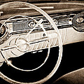 1956 Oldsmobile Starfire 98 Steering Wheel And Dashboard by Jill Reger