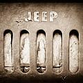 1957 Jeep Emblem by Jill Reger