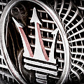 1957 Maserati Grille Emblem by Jill Reger