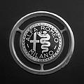 1961 Alfa Romeo Giulietta Sprint Veloce Series II Emblem -1045bw by Jill Reger