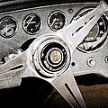 1960 Maserati Steering Wheel Emblem by Jill Reger
