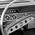 1961 Chevrolet Impala Ss Steering Wheel Emblem by Jill Reger