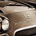 1962 Chevrolet Corvette Hood Emblems by Jill Reger