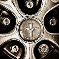 1966 Ford Mustang Gt Wheel Emblem by Jill Reger