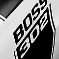 1970 Ford Mustang Boss 302 Emblem by Jill Reger