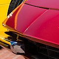1971 Ferrari 365 Gtb-4 Daytona Spyder Hood Emblem by Jill Reger