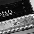 1972 Chevrolet Nova Ss Taillight Emblem -0355bw by Jill Reger