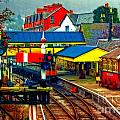 A Digitally Converted Painting Of Llangollen Railway Station North Wales Uk by Ken Biggs