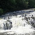 A Lovely View Of A Falls On Kayaderosseras Creek by James Connor