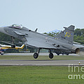 A Saab Jas 39 Gripen C Of The Royal by Remo Guidi