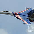 A Sukhoi Su-27 Flanker Of The Russian by Remo Guidi