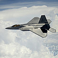 A U.s. Air Force F-22 Raptor Aircraft by Stocktrek Images