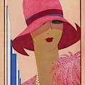 A Vintage Vogue Magazine Cover Of A Woman by Harriet Meserole