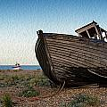 Abandoned Fishing Boat Digital Painting by Matthew Gibson