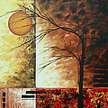 Abstract Gold Textured Landscape Painting By Madart by Megan Duncanson